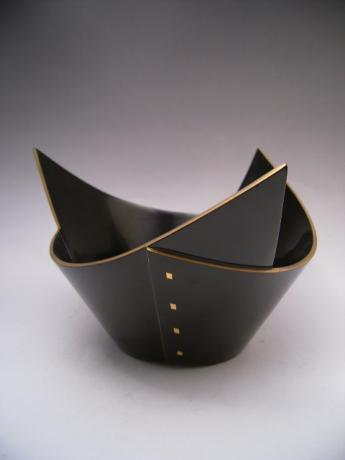 JAPANESE EARLY 20TH CENTURY WAJIMA LACQUER BOWL<br><font color=red><b>SOLD</b></font>