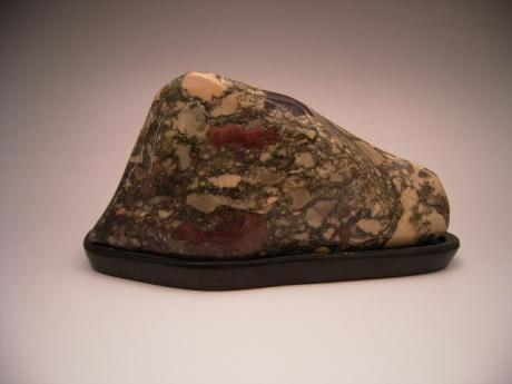 JAPANESE SUISEKI, NATURAL VIEW STONE ON WOODEN STAND<br><font color=red><b>SOLD</b></font>