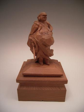 JAPANESE 20TH CENTURY WOODEN CARVING OF SENNIN HERMIT<br><font color=red><b>SOLD</b></font>