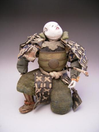 JAPANESE EARLY MEIJI PERIOD SAMURAI DOLL<br><font color=red><b>SOLD</b></font>