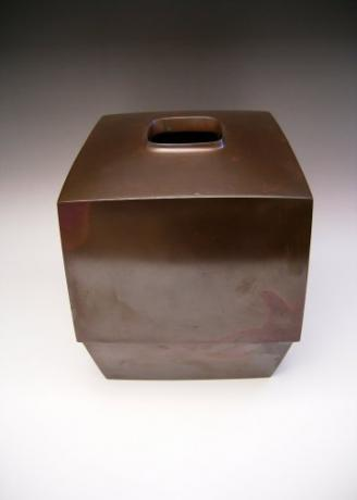 JAPANESE 20TH CENTURY BRONZE VASE BY HASUDA SHUGORO<br><font color=red><b>SOLD</b></font>