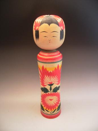 JAPANESE MID 20TH CENTURY LARGE KOKESHI DOLL<br><font color=red><b>SOLD</b></font>