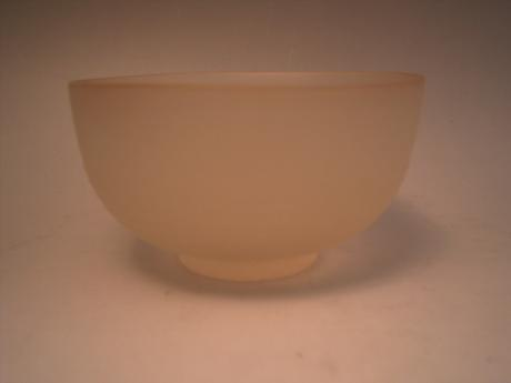 JAPANESE 20TH CENTURY UNUSUAL GLASS TEA BOWL<br><font color=red><b>SOLD</b></font>