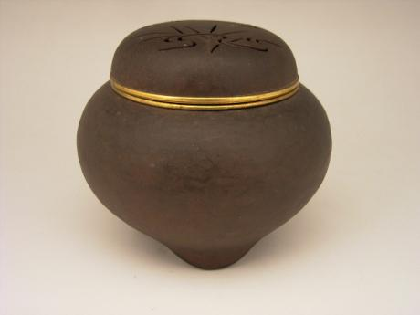 JAPANESE EARLY MID 20TH CENTURY MYOCHIN-STYLE IRON KORO INCENSE BURNER<br><font color=red><b>SOLD</b></font>