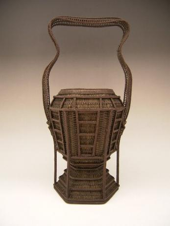 JAPANESE CIRCA 1900 FINELY WOVEN BASKET BY CHIKUYUSAI<br><font color=red><b>SOLD</b></font>