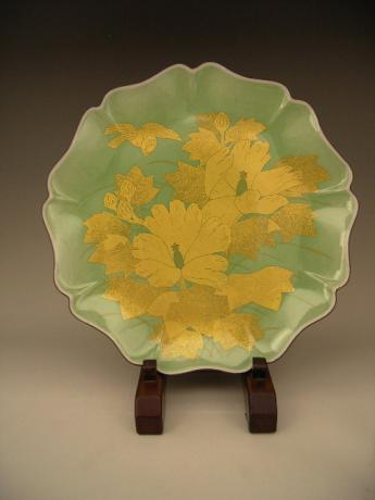 JAPANESE 20TH CENTURY LNT YOSHIDA MINORI PLATE<br><font color=red><b>SOLD</b></font>
