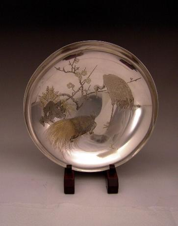 JAPANESE EARLY 20TH CENTURY PURE SILVER BOWL<br><font color=red><b>SOLD</b></font>