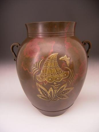 JAPANESE EARLY 20TH CENTURY BRONZE VASE BY MURATA CHOSEN