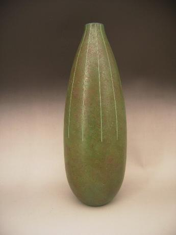 NEW ACQUISITION! JAPANESE 20TH CENTURY BRONZE VASE BY LNT ARTIST TAKAMURA TOYOCHIKA<br><font color=red><b>SOLD</b></font>