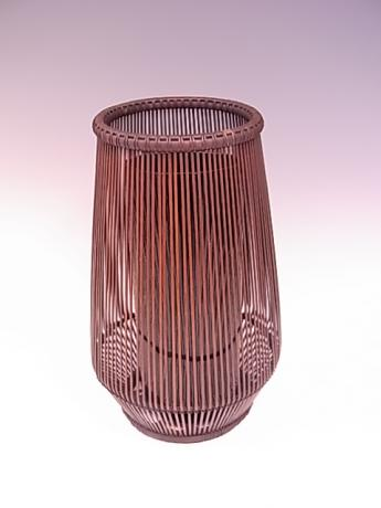 JAPANESE 20TH CENTURY BAMBOO FLOWER CONTAINER BY SHIOTSUKI JURAN<br><font color=red><b>SOLD</b></font>