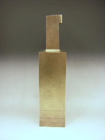 JAPANESE 20TH CENTURY WHITE BRONZE VASE BY HASUDA SHUGORO<br><font color=red><b>SOLD</b></font>